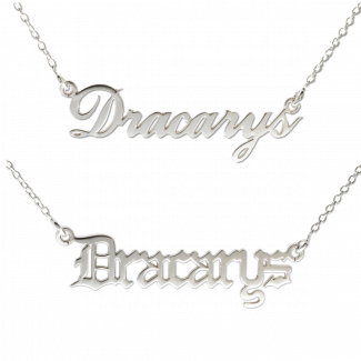 Dracarys Game Of Thrones Name Necklace