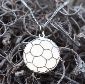 Sterling Silver Engraved Football Pendant With Optional Engraving
