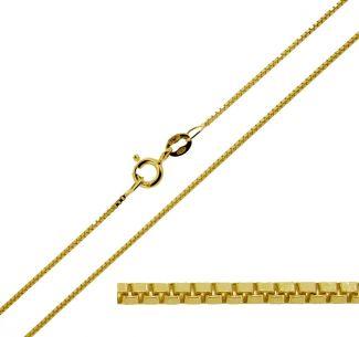 9ct Yellow Gold 0.7mm Box Chain