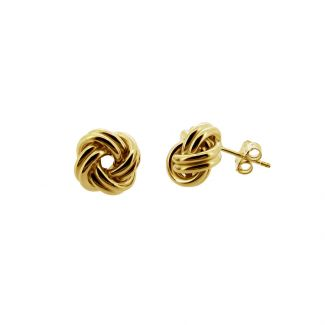 9ct Gold Plated Knot Stud Earrings