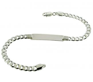 Sterling Silver Ladies ID Bracelet With Optional Engraving