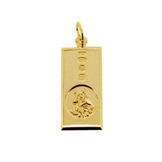 9ct Yellow Gold Custom Hallmarked St Christopher Ingot
