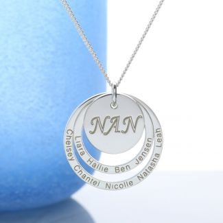 Sterling Silver Two Disc Nan Pendant
