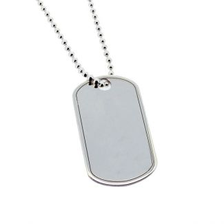 Sterling Silver Dog Tag With Optional Engraving
