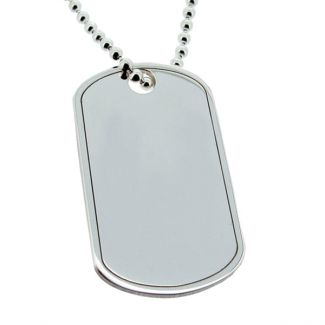 Sterling Silver Large Dog Tag With Optional Engraving