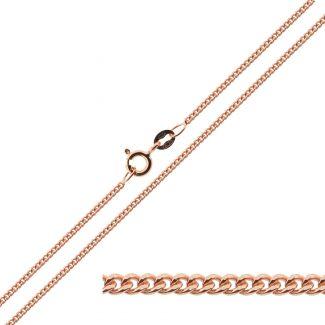 Rose Gold Plated 1.2mm Diamond Cut Curb Chain