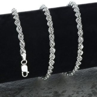Sterling Silver 3mm Rope Chain
