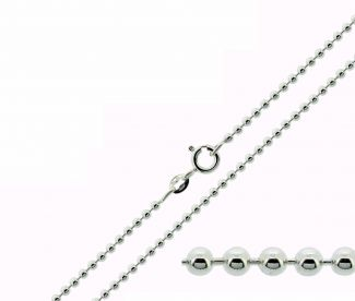 Sterling Silver 3mm Bead Ball Chain