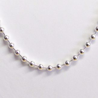Sterling Silver 5mm Bead Ball Chain
