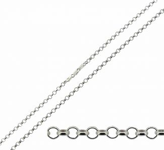 Sterling Silver 2.4mm Light Belcher Chain