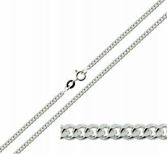 Sterling Silver 2.5mm Diamond Cut Curb Chain