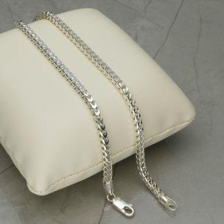 Sterling Silver 3mm Franco Bracelet