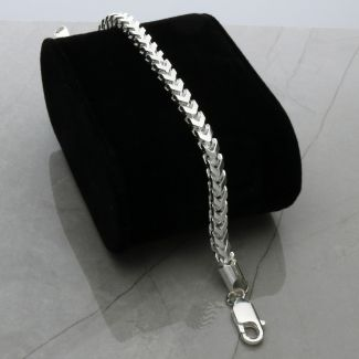 Sterling Silver 4mm Franco Bracelet