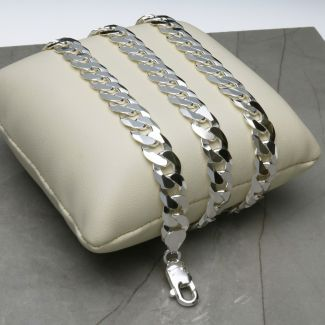 Sterling Silver 8mm Curb Chain