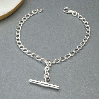 Sterling Silver Ladies T-Bar Bracelet