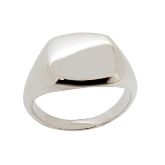 Sterling Silver Initial Signet Ring With Optional Engraving