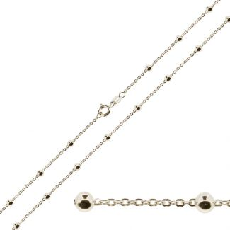 Sterling Silver Bead Ball & Trace Chain