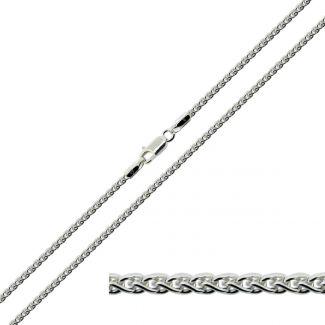 Sterling Silver 2mm Spiga Link Anklet