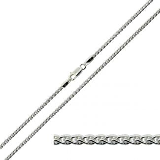 Sterling Silver 2mm Spiga Link Ladies Bracelet