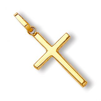9ct Yellow Gold Cross Pendant & Optional Chain