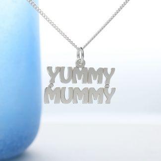 Sterling Silver Yummy Mummy Pendant