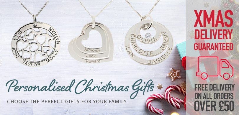 Christmas Gifts from the UK Personalised Family Jewellery Specialists