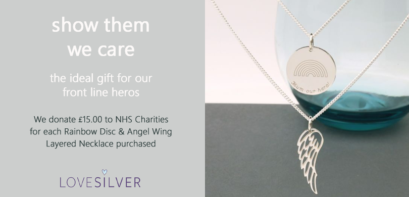 Rainbow Disc and Angel Wing NHS Pendant
