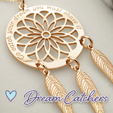 Engraveable Dream Catcher Pendants