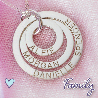 Personalised Family Pendants & Jewellery