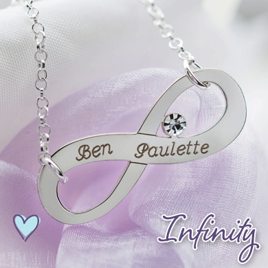 Personalised Infinity Jewellery