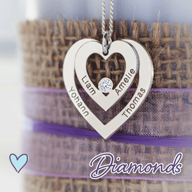 Personalised Diamond Pendants
