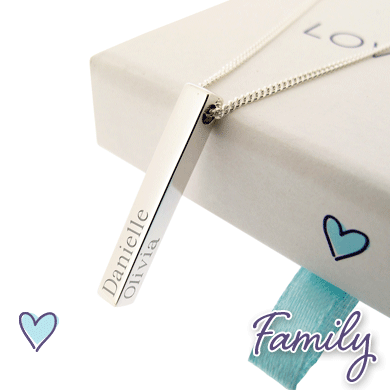 Personalised Family Pendants