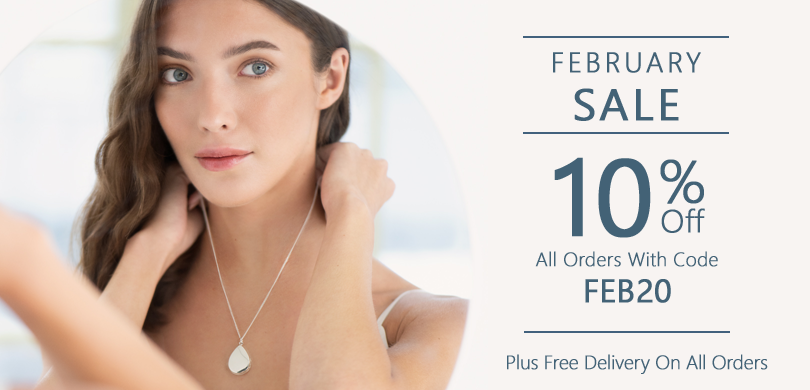 10 Percent off all orders with Code FEB20