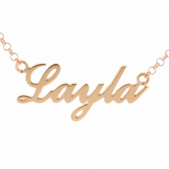 18k Rose Gold Plated Carrie Style Personalized Name Necklace (Sex & The City)