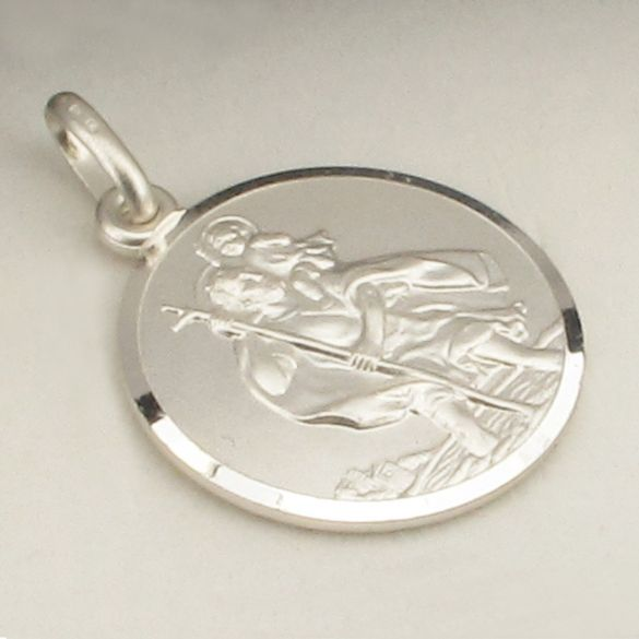 Sterling Silver 24mm St Christopher Pendant With Optional Engraving