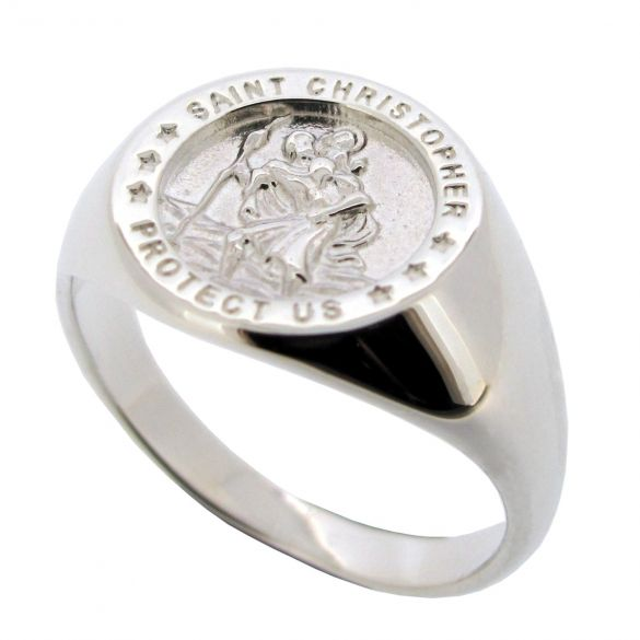 Sterling Silver St Christopher Ring