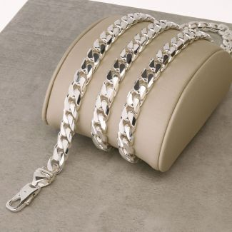 Sterling Silver 7.2mm Chunky Mens Curb Chain