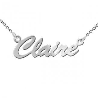 Sterling Silver Script Style Personalised Name Necklace