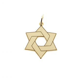 9ct Yellow Gold Plated Star Of David Jewish Pendant