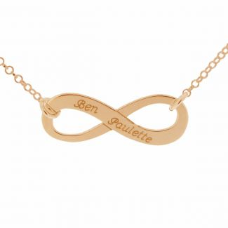 18k Rose Gold Plated Infinity Necklace