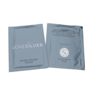 Two Anti Tarnish Silver Polish Tissues For Sterling Silver -  Double Sachet