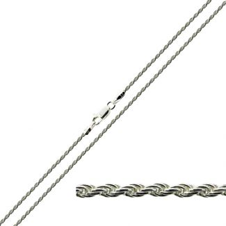 Sterling Silver 1.3mm Rope Chain