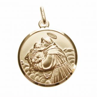 9ct Yellow Gold Plated St Anthony Medal