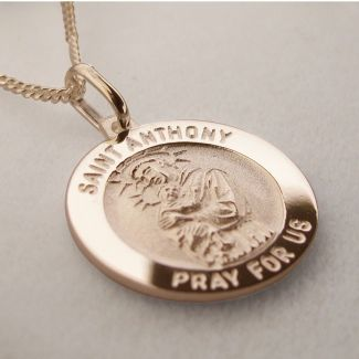 9ct Rose Gold Plated St Anthony 3D Medal